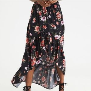 American Eagle High-Low Ruffle Maxi Skirt